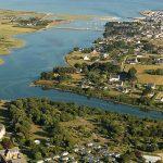 vue aerienne camping l'océan breton