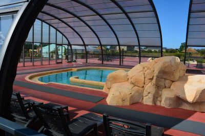 piscine couverte camping les iles normandie