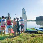 paddle camping l'océan breton