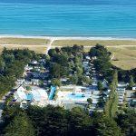 vue aérienne village la plage